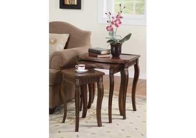 Warm Brown Nesting Table