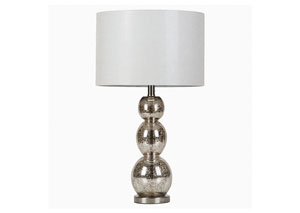 Image for Antique Silver Transitional Antique Silver Lamp