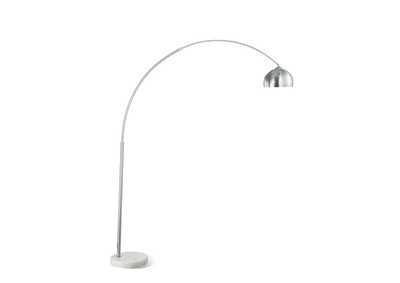 Brushed Steel Chrome FloorLamp