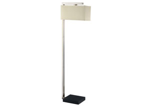 Brushed Silver Floor Lamp