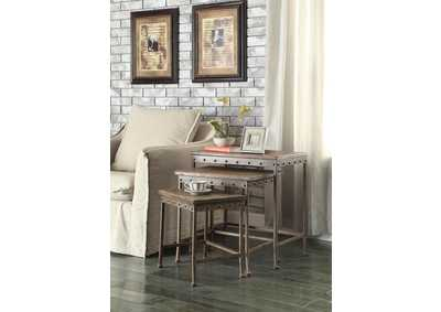 Rustic Brown Nesting Table