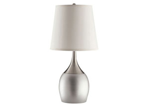 White/Silver Table Lamp (Set of 2)