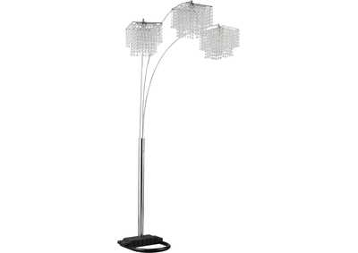Chrome Traditional Chrome and Black Floor Lamp