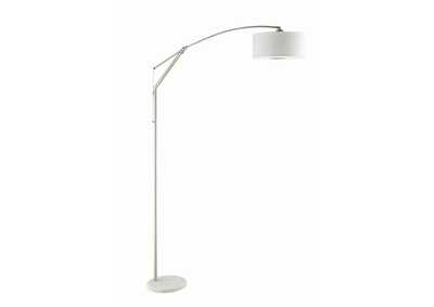 White/Chrome Floor Lamp