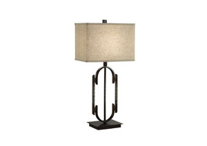 Dark Bronze/Beige Table Lamp