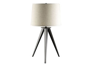 Gray Industrial Tripod Table Lamp