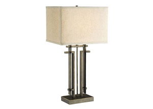 Beige/Black Lamp