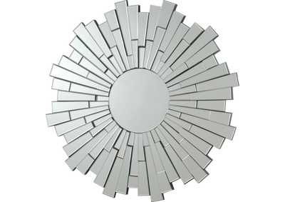 Sunburst Frameless Mirror