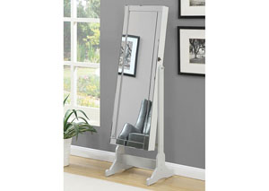 Grey Jewelry Armoire