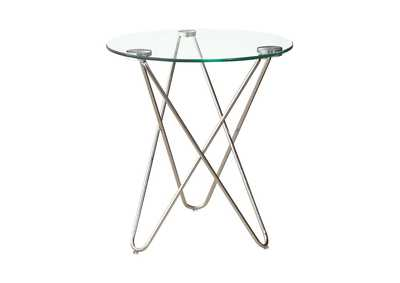 Image for Chrome Contemporary Chrome Accent Table