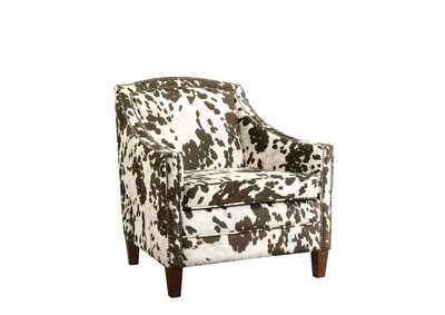 White/Brown Accent Chair