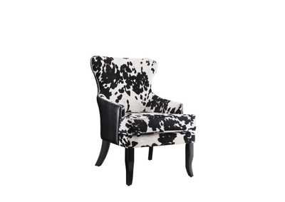 Black/White Accent Chair