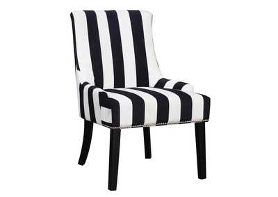 Navy/White Accent Chair