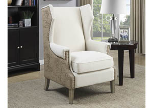 Cream/Beige Accent Chair