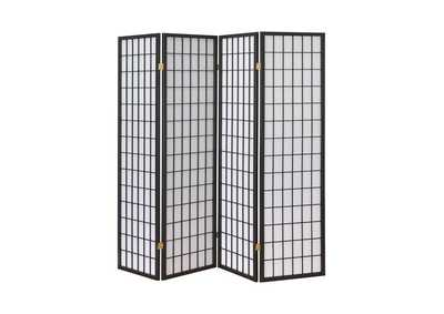 Image for Lola Dark Grey Four Panel Folding Screen