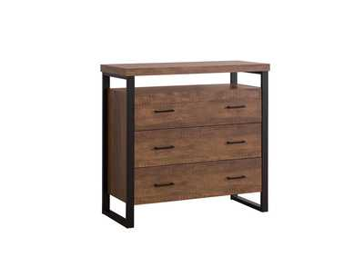 Image for Rustic Amber Rustic Amber Three-Drawer Accent Cabinet