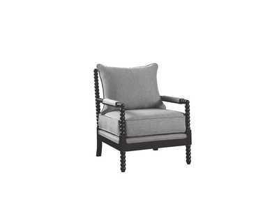 Cappuccino/Grey Accent Chair