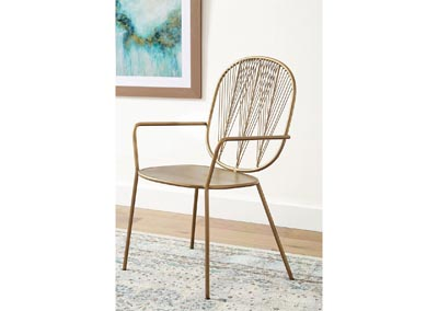 Brass Iron Accent Chair