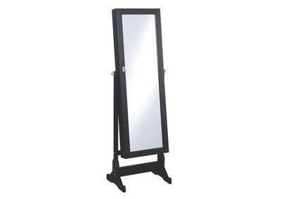 Image for Black Jewelry Cheval Mirror