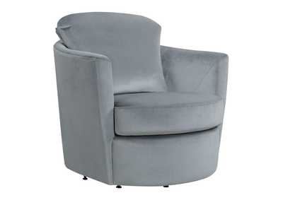Grey Swivel Accent Chair