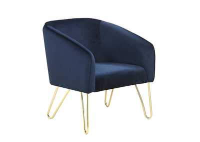 Image for Dark Blue Upholstered Accent Chair