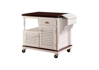 Image for White Traditional White Kitchen Cart
