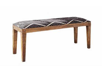 Image for Quick Silver Bohemian Upholstered Dining Bench