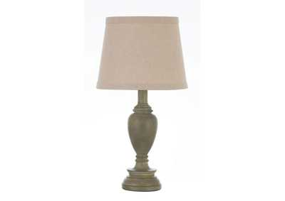 Image for Bison Hide Transitional Light Faux Wood Table Lamp