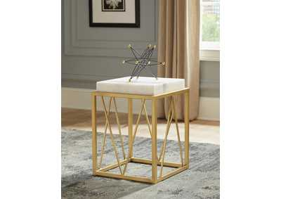 Gold/Marble Accent Table