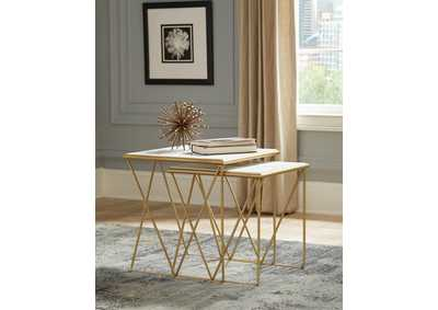 Gold Finish Nesting Tables
