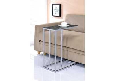 Chrome/Black Accent Table
