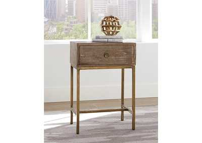 Natural 1-Drawer Accent Table