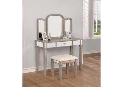 Cream/Metallic Vanity Set