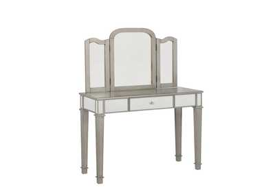 Image for Cararra Contemporary Metallic Platinum Vanity Set