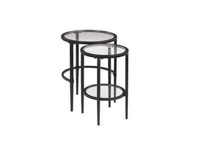 Image for Mine Shaft Matte Black Nesting Table