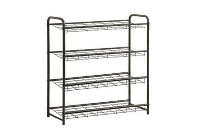 Image for Black Transitional Black Shoe Rack