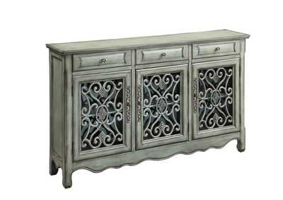 Antique Green Accent Cabinet