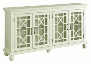 Antique White Accent Cabinet