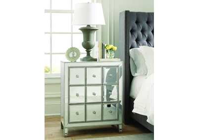 Silver Accent Cabinet