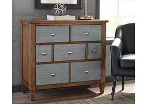 Brown/Gray Accent Cabinet