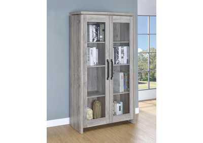 The Furniture Shop Duncanville Tx Grey Driftwood Curio Cabinet