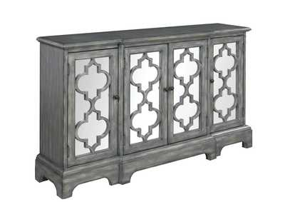 Image for Sonic Silver Rustic Grey Accent Cabinet