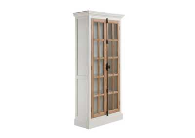 Image for Mist Gray  Two-Tone Curio Cabinet