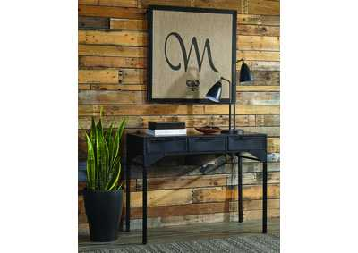 Matte Black Console Table