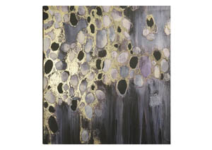 Image for Rangitoto Bubbly Reflection Abstract Wall Art