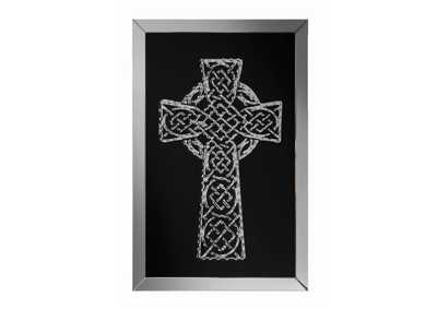 Silver Celtic Cross Wall Art