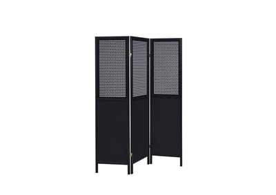 Image for Shark Contemporary Black Three-Panel Screen