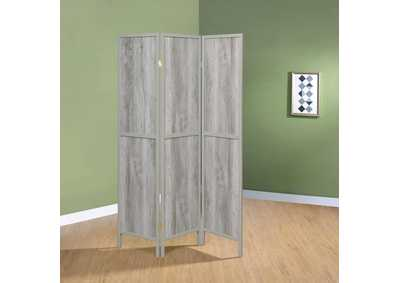 Grey Driftwood 3 Panel Screen