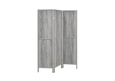 Image for Grey Driftwood Rustic Grey Driftwood Three-Panel Screen