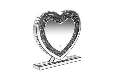 Silver Heart Shape Table Mirror